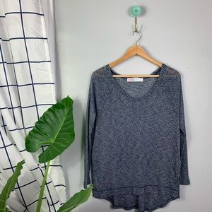 Free People Beach Blue Knit Pullover